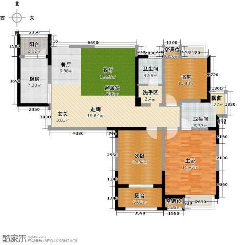 典雅花园3室0厅2卫1厨134.00㎡户型图