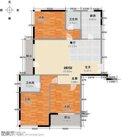 凯纳华侨城3室0厅2卫1厨133.00㎡户型图