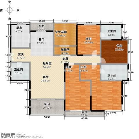 凯纳华侨城4室0厅3卫1厨276.00㎡户型图