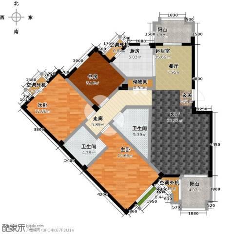 金石明珠3室0厅2卫1厨141.00㎡户型图