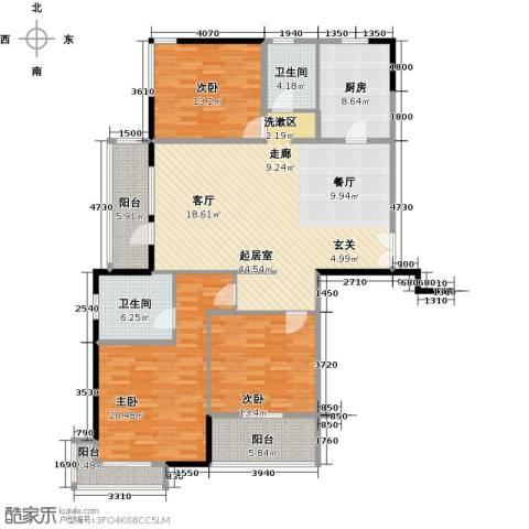 凯纳华侨城3室0厅2卫1厨140.00㎡户型图