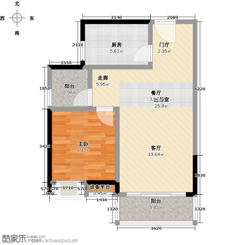 荔港南湾H4栋7-14层0户型1室1厨