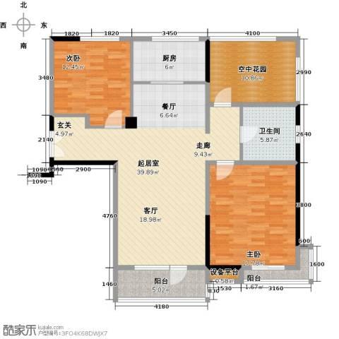 凯纳华侨城2室0厅1卫1厨113.00㎡户型图