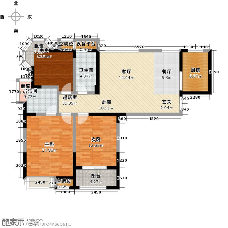 典雅花园115.00㎡典雅花园115.00㎡3室2厅2卫户型3室2厅2卫