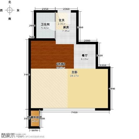 丰臣国际广场1卫0厨74.00㎡户型图