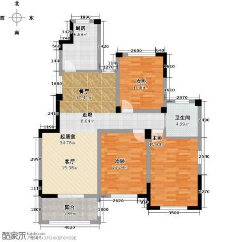 金美林花园3室0厅1卫1厨112.00㎡户型图