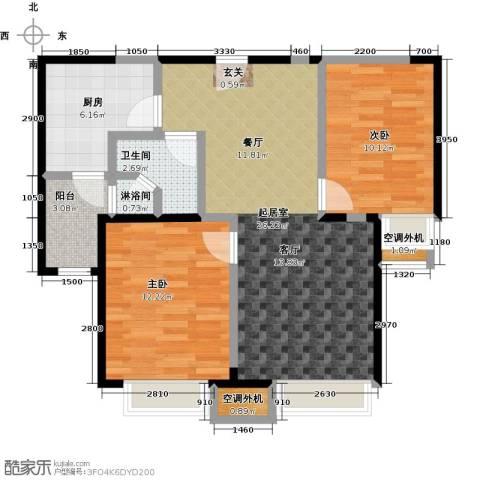 华发新城2室0厅1卫1厨86.00㎡户型图