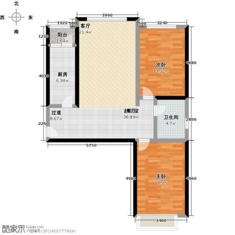 千家和众新家园2室0厅1卫1厨106.00㎡户型图