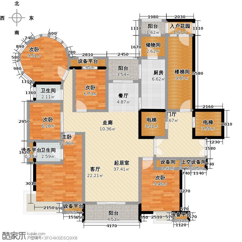 晋陵路八号161.00㎡A户型4室2厅2卫户型4室2厅2卫