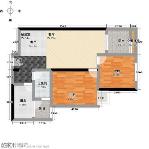 汇通大厦2室0厅1卫1厨86.00㎡户型图