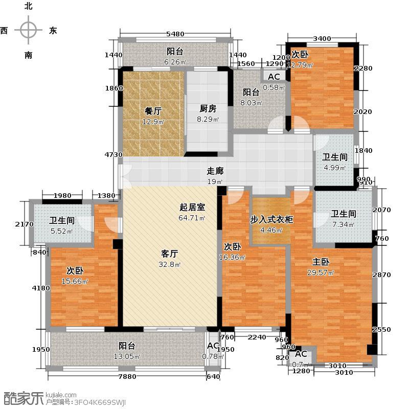 凤凰湖壹号224.00㎡【弥敦道】8#、9#户型4室2厅3卫