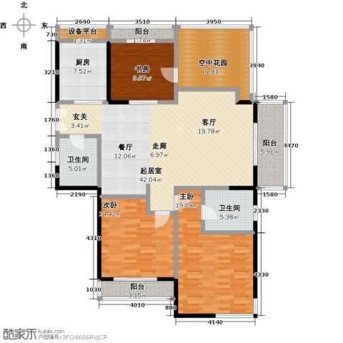 凯纳华侨城3室0厅2卫1厨180.00㎡户型图