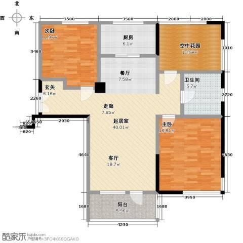 凯纳华侨城2室0厅1卫1厨110.00㎡户型图