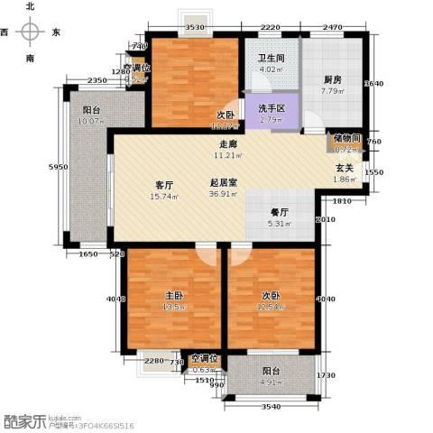 城置御水华庭3室0厅1卫1厨148.00㎡户型图