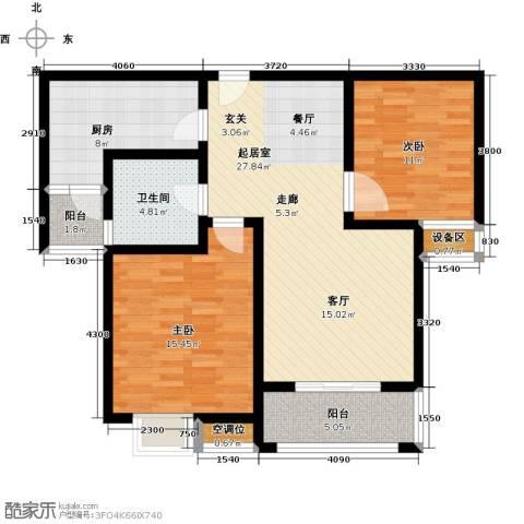 城置御水华庭2室0厅1卫1厨110.00㎡户型图