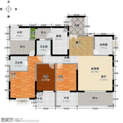 熙园山院3室0厅2卫1厨184.30㎡户型图