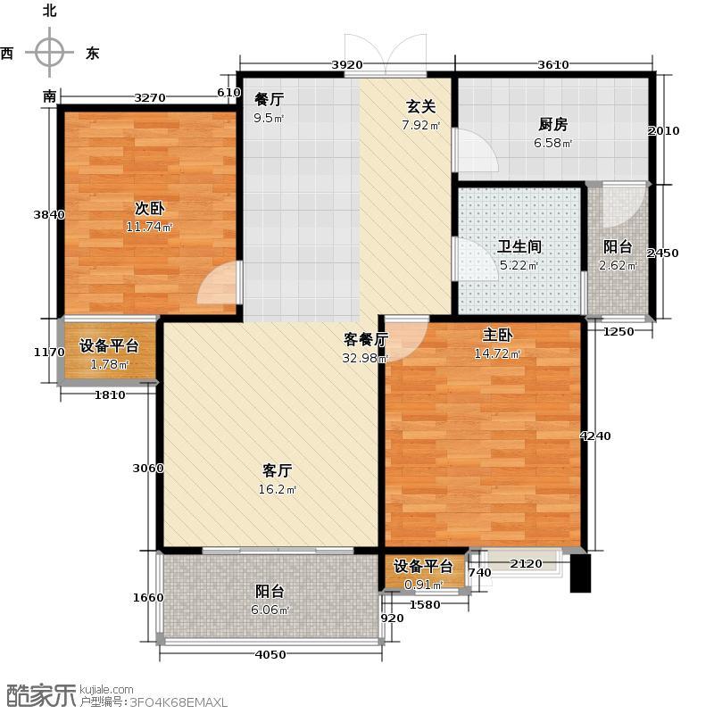 常发豪庭国际89.31㎡二房二厅一卫-89.31平方米-2套户型