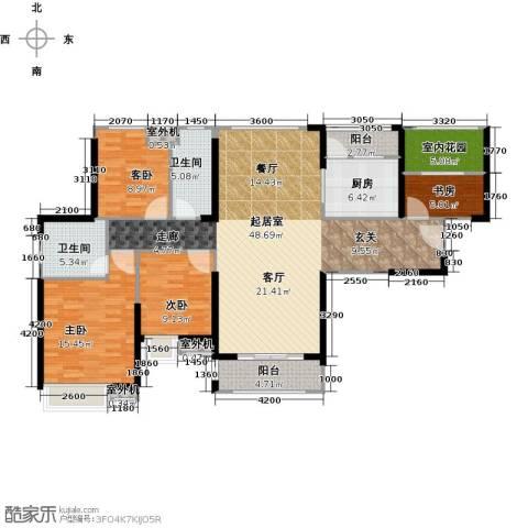 中海锦城4室0厅2卫1厨140.00㎡户型图