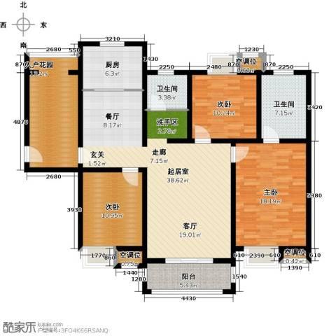 城置御水华庭3室0厅2卫1厨133.00㎡户型图