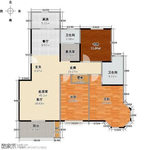 景尚名郡3室0厅2卫1厨119.00㎡户型图