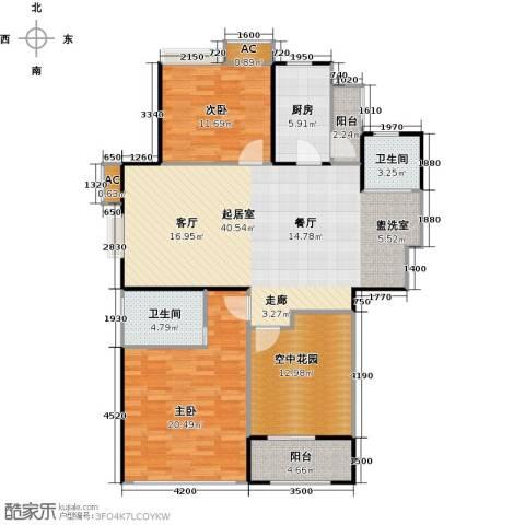 景尚名郡2室0厅2卫1厨117.00㎡户型图