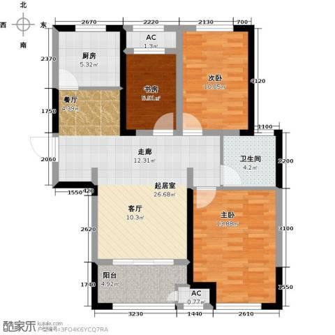 新城香溢澜桥3室0厅1卫1厨95.00㎡户型图
