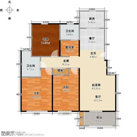 景尚名郡3室0厅2卫1厨116.00㎡户型图