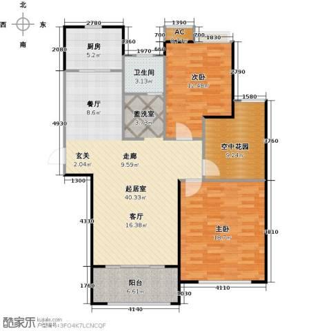 景尚名郡2室0厅1卫1厨103.00㎡户型图