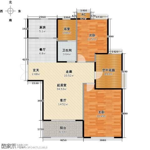 景尚名郡2室0厅1卫1厨100.00㎡户型图