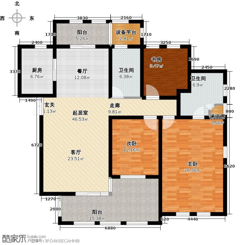 新城首府158.00㎡二期C户型3室2厅2卫