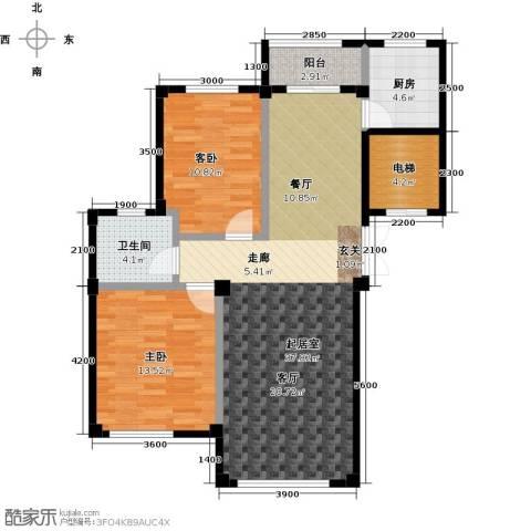 鼎盛佳苑2室0厅1卫1厨99.00㎡户型图