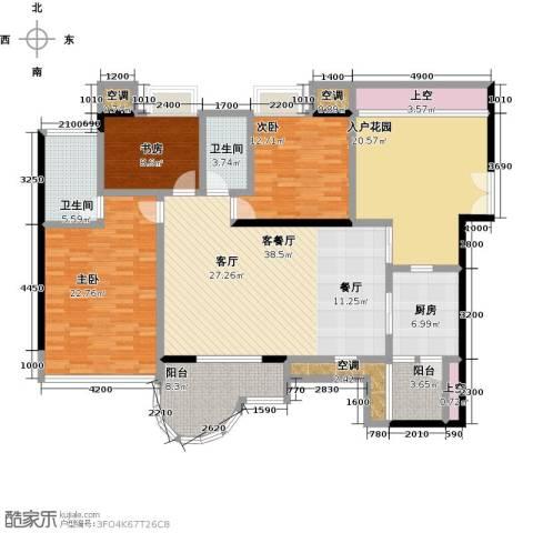 天骄峰景3室1厅2卫1厨202.00㎡户型图