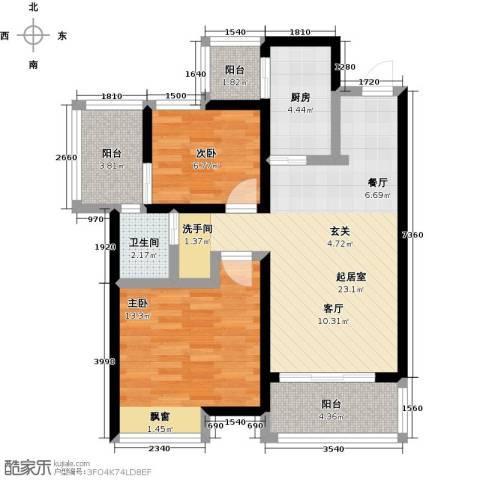 阳光北京城2室0厅1卫1厨89.00㎡户型图