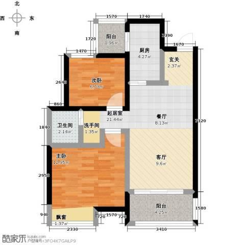 阳光北京城2室0厅1卫1厨80.00㎡户型图
