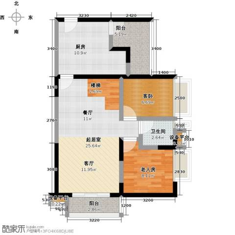 花地河湾2室0厅1卫1厨92.00㎡户型图