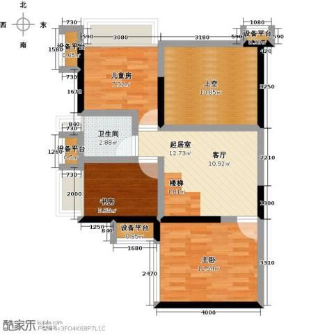 花地河湾3室0厅1卫0厨80.00㎡户型图