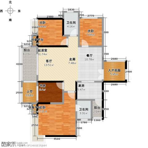 中粮一品澜山花园4室0厅2卫1厨126.00㎡户型图
