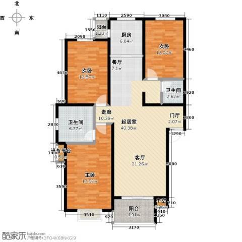 碧水蓝山3室0厅2卫1厨120.00㎡户型图