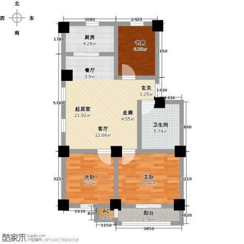 一品莲花城3室0厅1卫1厨89.00㎡户型图