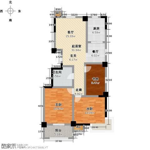 一品莲花城3室0厅1卫1厨112.00㎡户型图