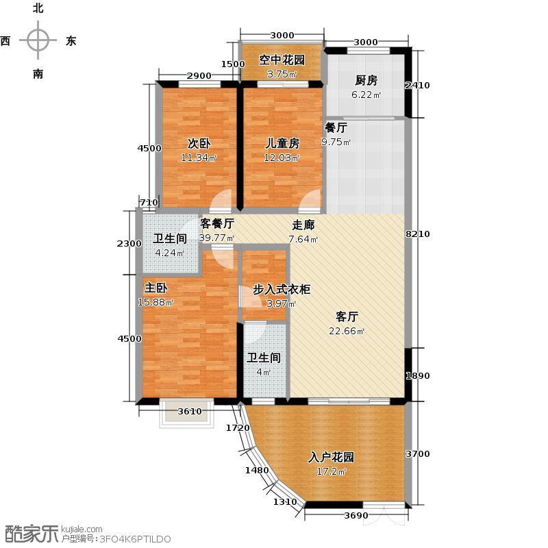 燕泉福邸户型3室1厅2卫1厨