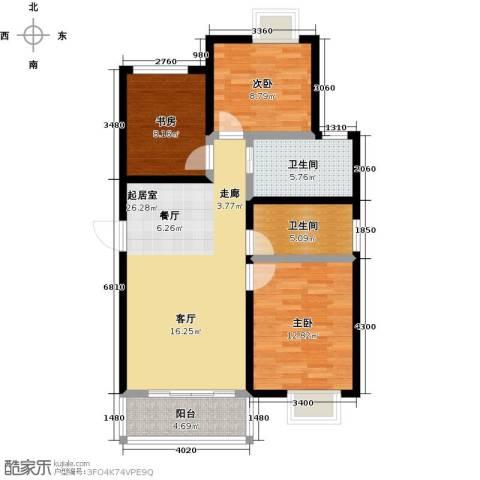 阳光北京城3室0厅2卫0厨104.00㎡户型图