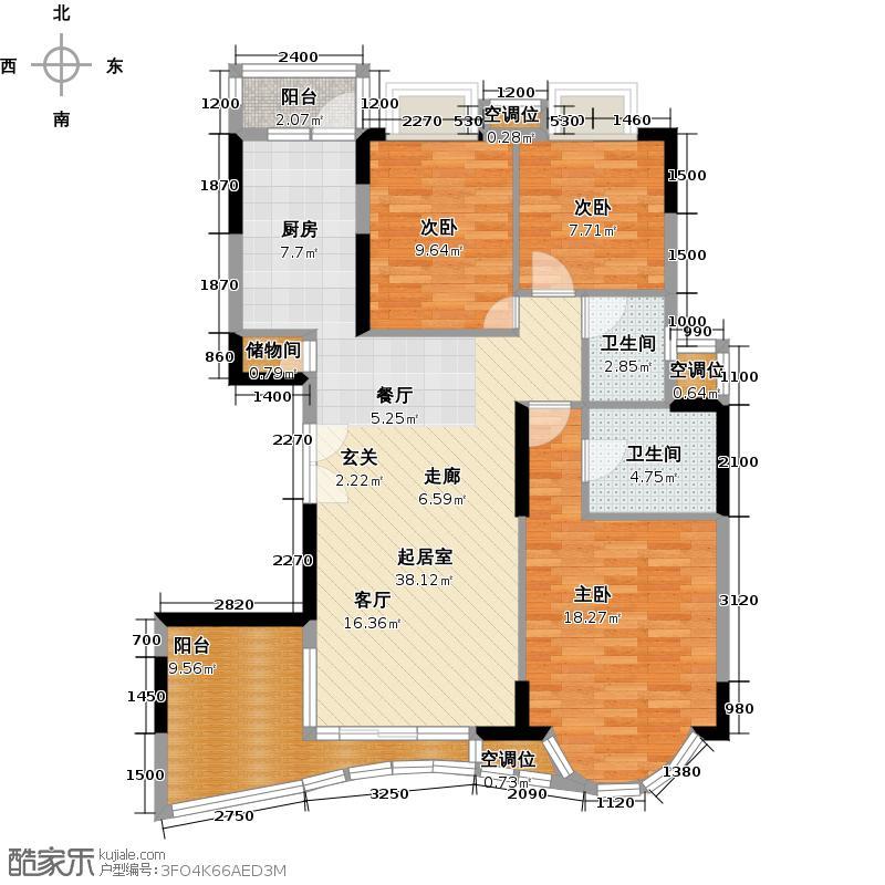 罗马家园凯盛庭C6座-301户型3室2卫