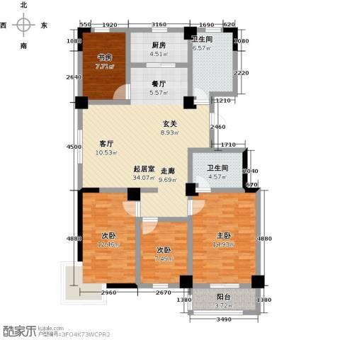 一品莲花城4室0厅2卫1厨136.00㎡户型图