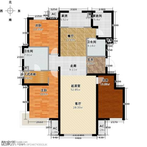万科温莎堡3室0厅2卫1厨172.00㎡户型图
