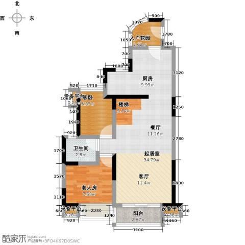 花地河湾2室0厅1卫0厨84.00㎡户型图