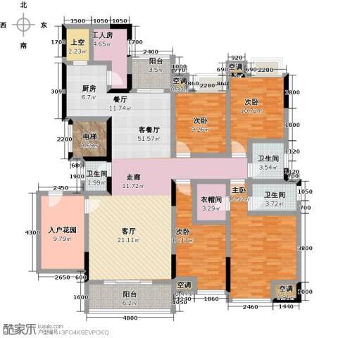 湖景壹号庄园4室1厅3卫0厨212.00㎡户型图