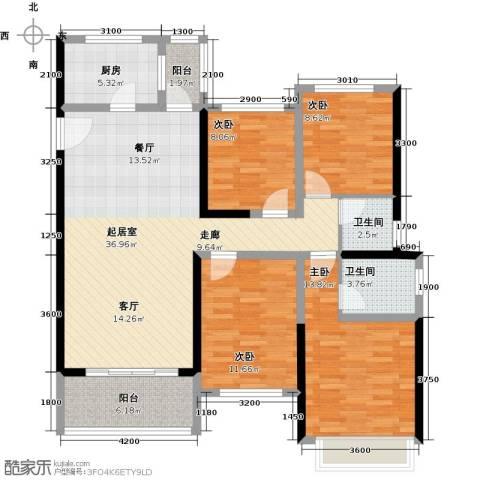 大东城4室0厅2卫1厨124.00㎡户型图