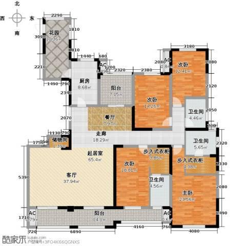 凤凰湖壹号4室0厅3卫1厨228.00㎡户型图