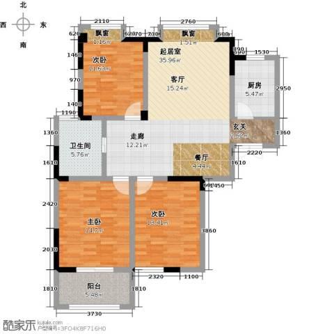 金美林花园3室0厅1卫1厨113.00㎡户型图